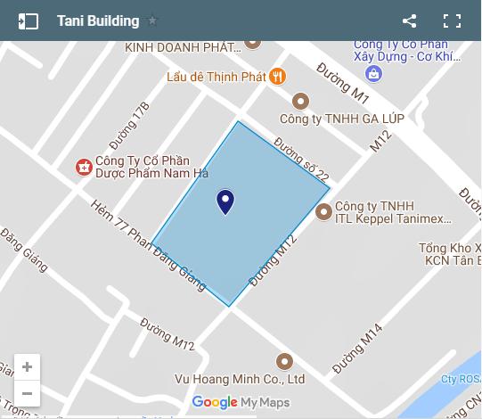 vị trí căn hộ tanimex